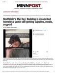 Northfield's The Key: Building is closed but homeless youth still getting supplies, meals, support
