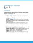Ketchikan Grade 6 At-Home Activity Resources