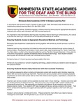 Minnesota State Academies for the Deaf and the Blind Distance Learning Plan