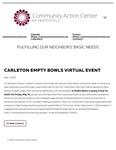Community Action Center: Carleton Empty Bowls Virtual Event