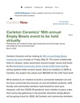 Carleton Ceramics' 16th annual Empty Bowls event to be held virtually
