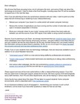 Letter from the CTO to faculty about technical support for remote learning