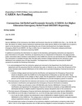 CARES Act Funding Reporting July 2020