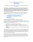 COVID-19 Best Practices Guide for On-Campus Work