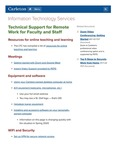 Technical Support for Remote Work for Faculty and Staff