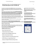 Work Resources for COVID-19