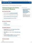 Technical Support for Online Learning for Students