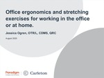 Office ergonomics and stretching exercises for working in the office or at home