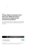 Young children frustrated and in tears over digital learning as parents try to adapt during coronavirus pandemic-Local Memphis by Kaitlin Ross and LaPorsche Thomas