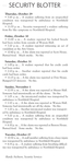 Carletonian Security Blotter: November 6, 2009