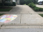 Be Well, Stay Strong : Chalk Art by Anonymous Child