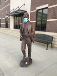 Masked up Statue